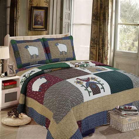Patchwork Bed Quilts - country patchwork quilts promotion shop for promotional