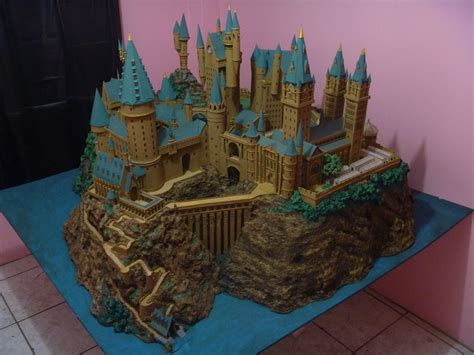Hogwarts Papercraft - hogwarts castle paper model finished by wandmaker on