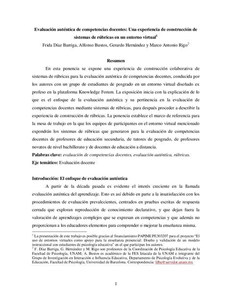 Diseño Curricular Por Competencias Diaz Barriga Evaluaci 243 N Aut 233 Ntica Diaz Barriga Frida By Kuri Issuu