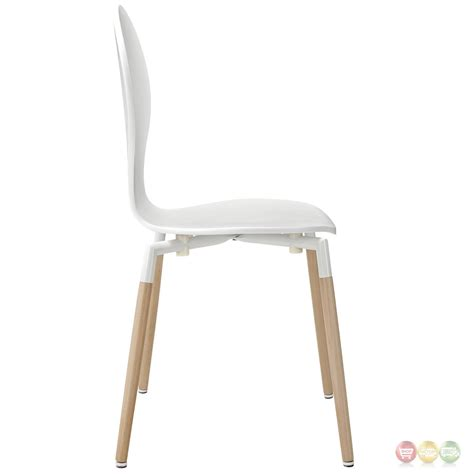 White Wood Chair by Path Stylish Wood Dining Side Chair White