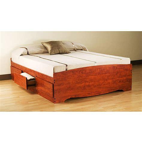 walmart platform bed prepac edenvale full platform storage bed cherry