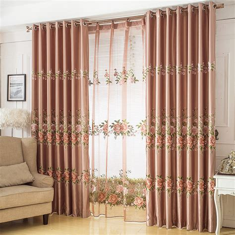 blind out curtains aliexpress com buy 2015 garden style flower soft