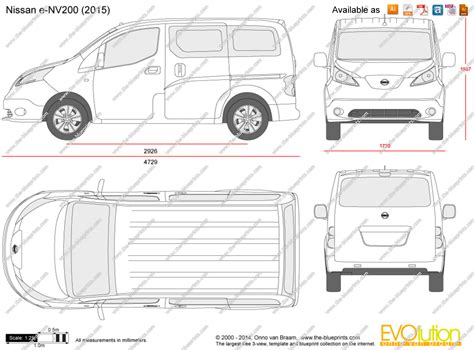 nissan nv200 template the blueprints com vector drawing nissan e nv200