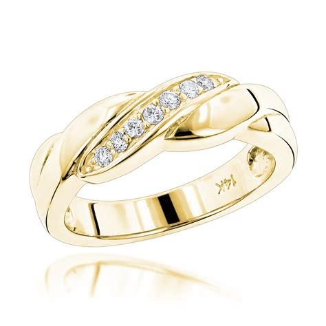 14k Gold Wedding Band by 14k Gold Womens Wedding Band 0 11ct