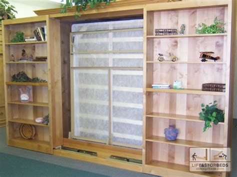 sliding bookshelves bookcase wall bed plans 187 woodworktips