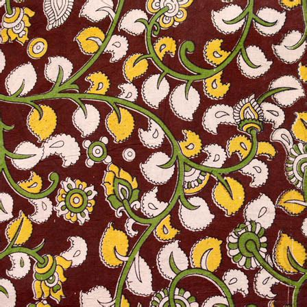 yellow leaf pattern fabric buy maroon green and yellow flower and leaf pattern cotton