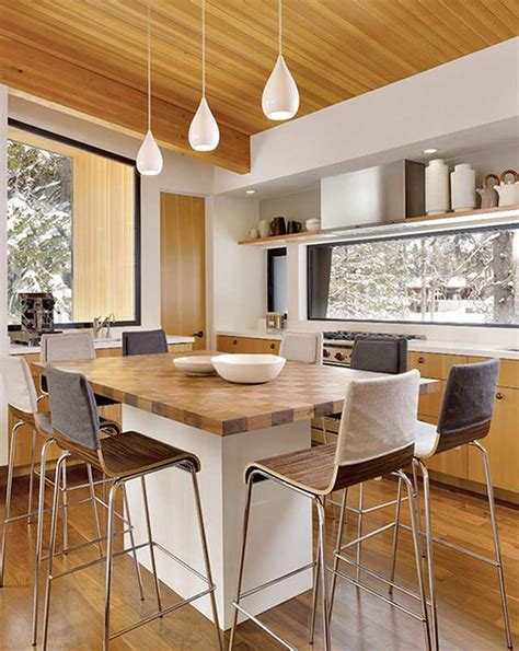 Kitchen Island As Dining Table Kitchen Island Table Combination A Practical And Functional Homesfeed