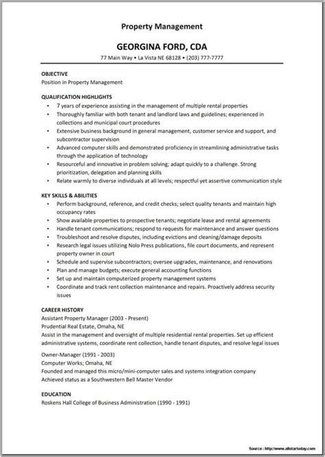 assistant property manager resume samples visualcv resume samples