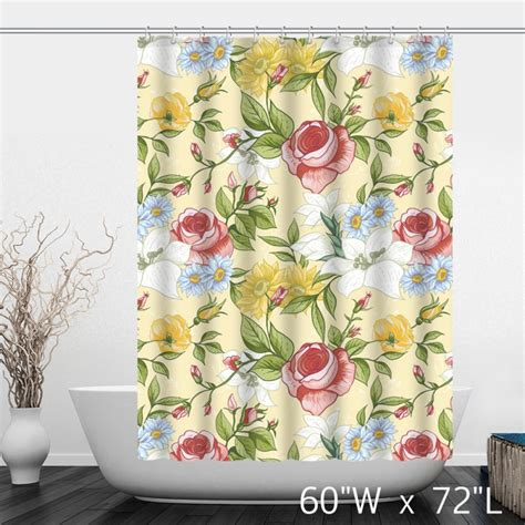 hand painted shower curtains hand painted rose floral polyester shower curtain custom
