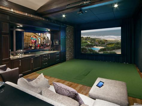 room golf media room decor pictures options tips ideas hgtv