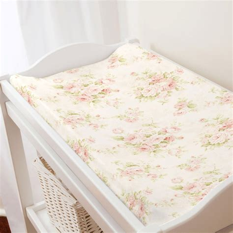Floral Chair Pad Kode Ss9603 pink floral changing pad cover carousel designs