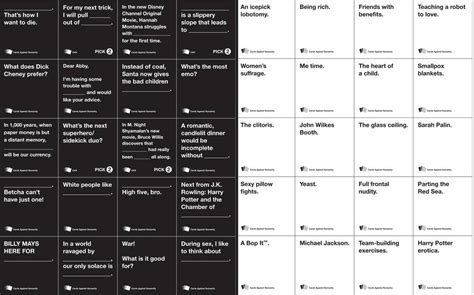 printable games like cards against humanity cards against humanity free card game pdf very funny