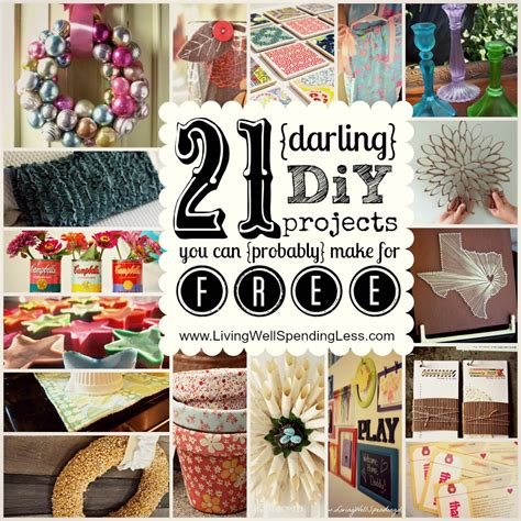 diy free 21 diy projects you can make for free