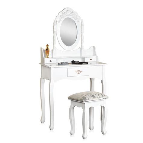toletta da 242 da toletta con sgabello specchio bianco tavolino da