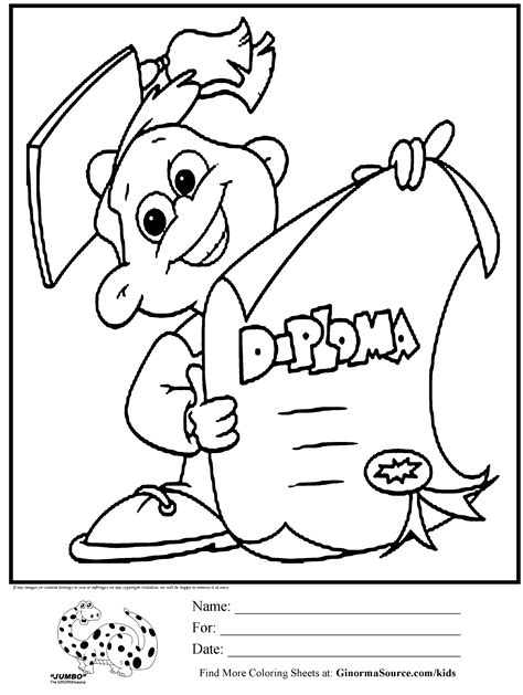Coloring Pages For Preschool Graduation | kindergarten graduation coloring pages az coloring pages