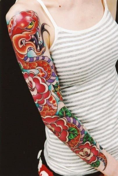 rose bush sleeve tattoo snake roses sleeve best ideas