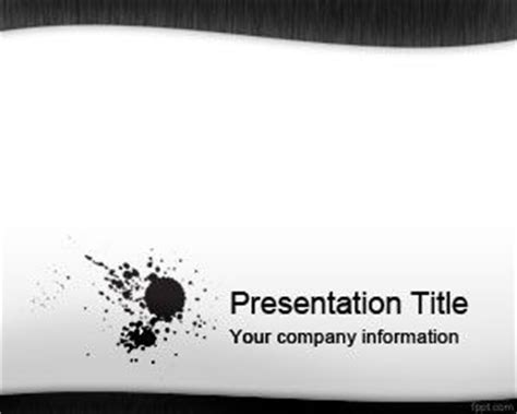 Free Blue Ink Powerpoint Template black ink powerpoint template ppt template
