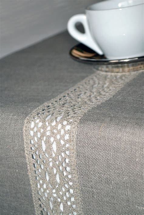 organic linen gray table runner 17 x 61 inches