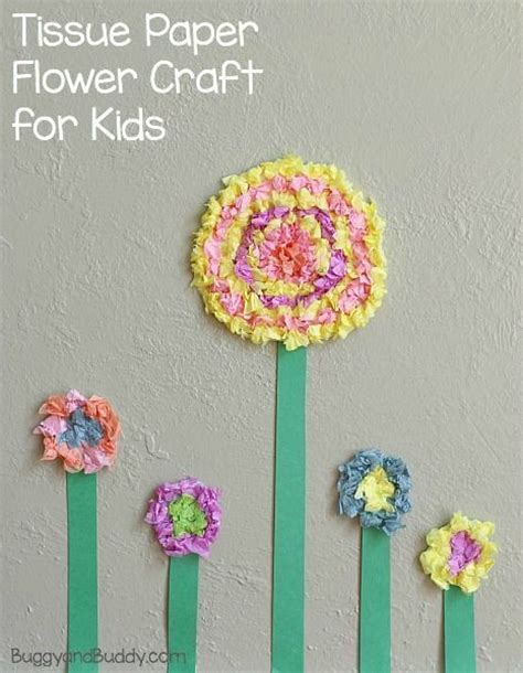 tissue paper flower craft ideas flower crafts for textured tissue paper flowers