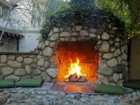 rustic outdoor fireplace photos diy