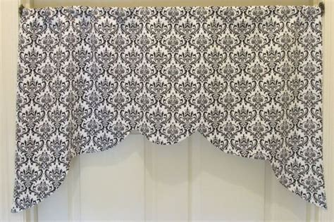 Black Curtain Toppers White Damask Valance Curtains And Valances On