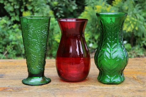 Color Glass Vases by Colored Glass Vases Large Vintique Rentals