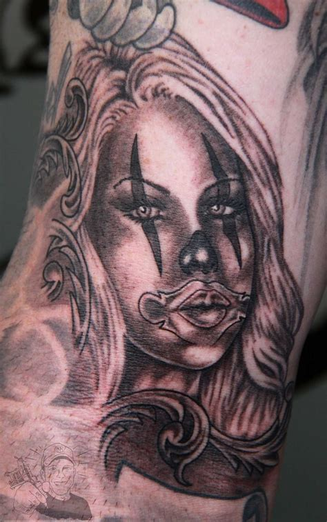 gangster girl tattoo designs 19 gangster clown images and designs