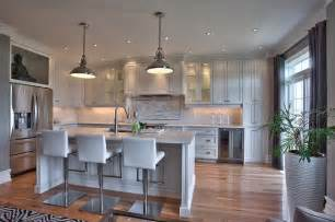 Replacing Kitchen Fluorescent Light by Suburban New Home Remodel Contemporary Kitchen