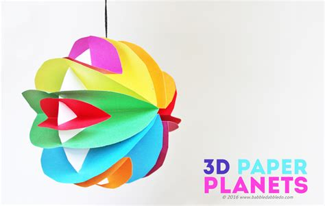 Home Decoration Materials Easy Planet Craft For Kids 3d Paper Planets
