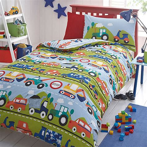 boys curtains and bedding bluezoo kids blue transport duvet cover and pillow case