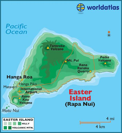 world map easter island rapa nui map of easter island chile world atlas