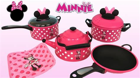 minnie dinner breakfast and dinner with minnie mouse cooking set