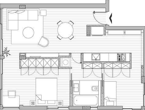 apartment by sfaro small apartment renovation plans home