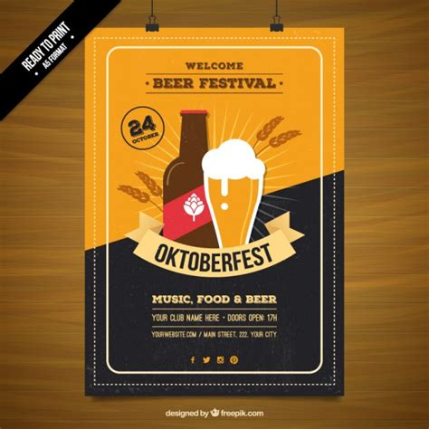 Plakat Quellenangaben by Bierfest Plakat Der Kostenlosen Vektor
