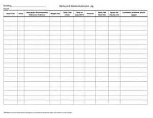 Autoclave Log Template by Autoclave Log Sheet Template Images