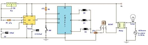 timer relay circuit diagram adjustable timer circuit diagram with relay output