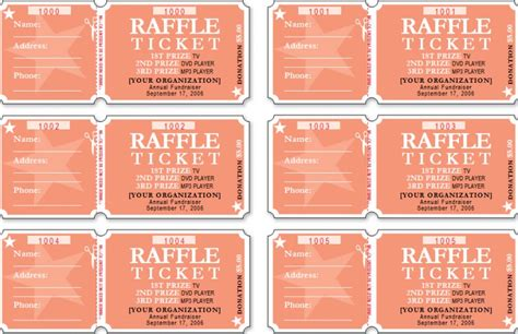 downloadable printable raffle tickets raffle ticket template 14 free templates free