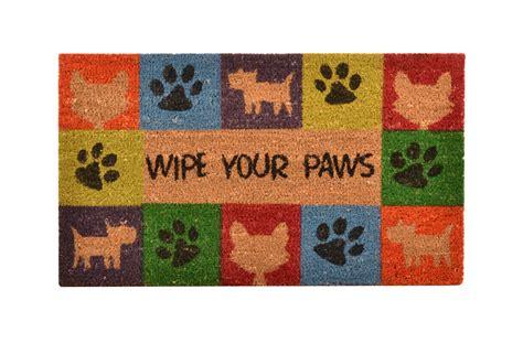 Wipe Your Paws Doormat no trax wipe your paws coir doormat animal s outdoor entrance mat