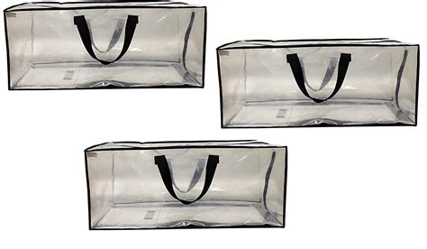 earthwise clear storage bags extra large heavy duty