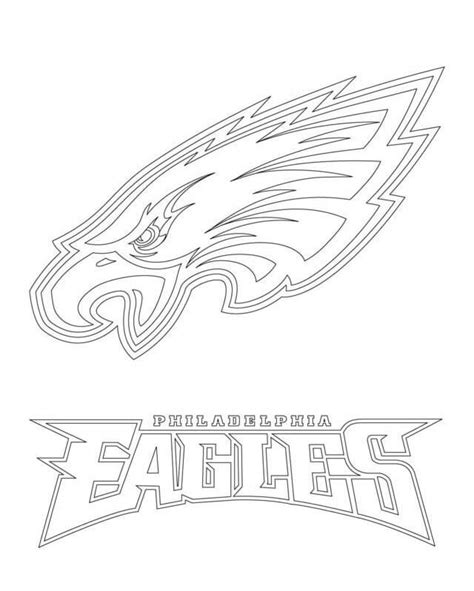 Philadelphia Eagles Helmet Coloring Page