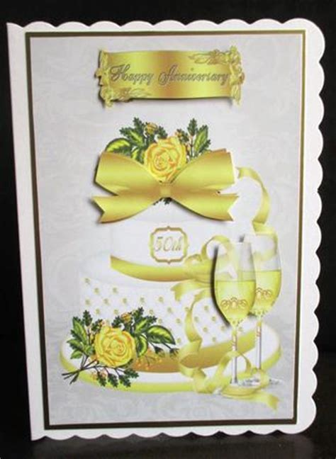 50th Golden Wedding Anniversary Card Front   CUP314037