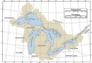 Great Lakes Map Outline by Map Of The Great Lakes With Latitude Longitude And Basin Flickr Photo