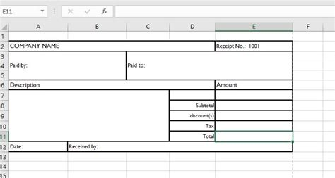 How To Make A Receipt Template In Excel by Receipt Templates For Ms Word Excel Receipt Templates