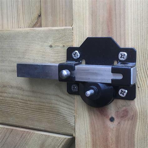 backyard gate lock garage long throw security lock handle perry 70mm