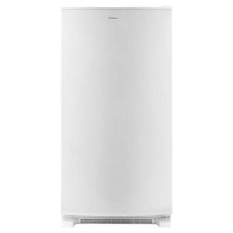amana 19 6 cu ft free upright freezer in white