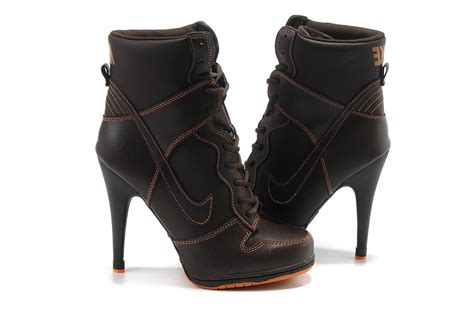 nike high heels boots for womens brown 7777035