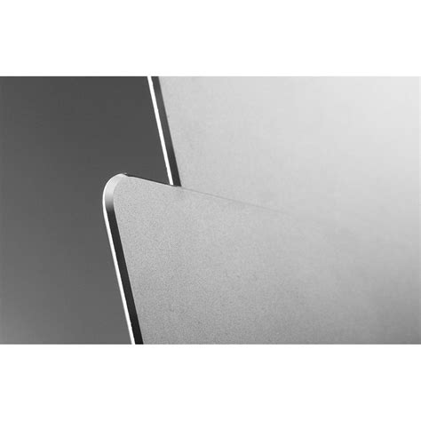 metal mouse pad rubber 300 x 240 x 3mm silver