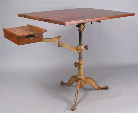 Dietzgen Drafting Table Antique Industrial Cast Iron Drafting Table By Dietzgen At 1stdibs