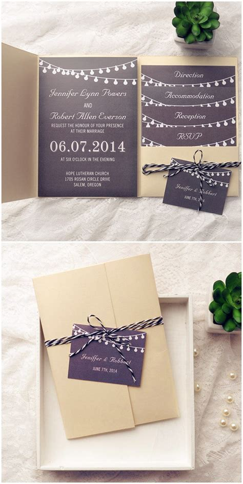 Top 10 Pocket Wedding Invitation Kits for Spring 2015