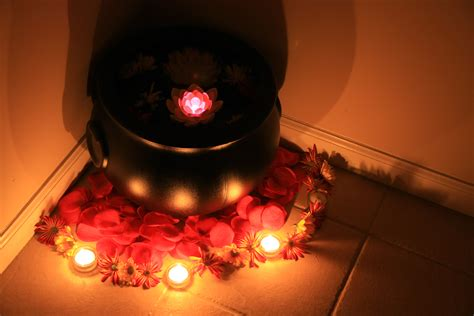 Livingroom Decorations file floating candle with flower decor india 2010 jpg